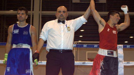 Javier Fernández, campeón gallego de promesas de 64 kg