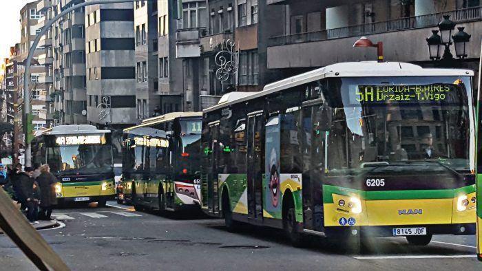Conductores de Vitrasa sancionados por tratar de cumplir sus horarios