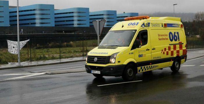 O 061-Galicia asistiu a 59 persoas por 43 accidentes de circulación durante a fin de semana