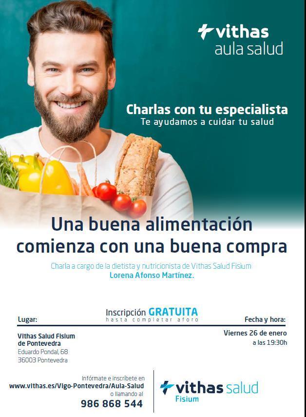 Vithas Salud Fisium de Pontevedra organiza una charla sobre cómo leer el etiquetado de los alimentos
