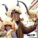"""O """"vello dos cornos"""" e outras figuras que acompañan os xenerais en Vila de Cruces"""