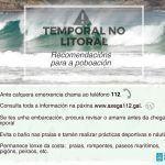 Amplíase a alerta de temporal de nivel laranxa vixente a todo o litoral galego
