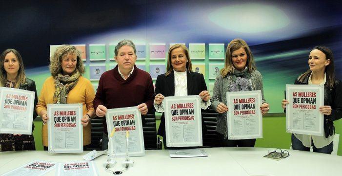"""Carmela Silva reinvindica o papel da muller xornalista durante a presentación do """"Encontro de Mulleres Columnistas"""""""