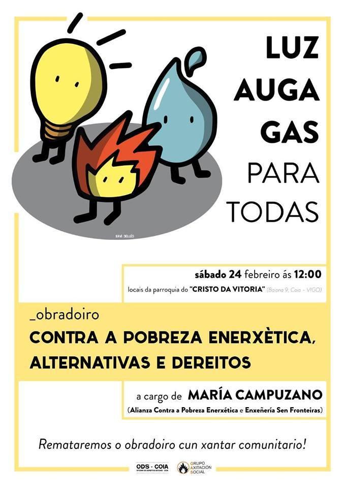 Obradoiro: Contra a pobreza enerxética, alternativas e dereitos
