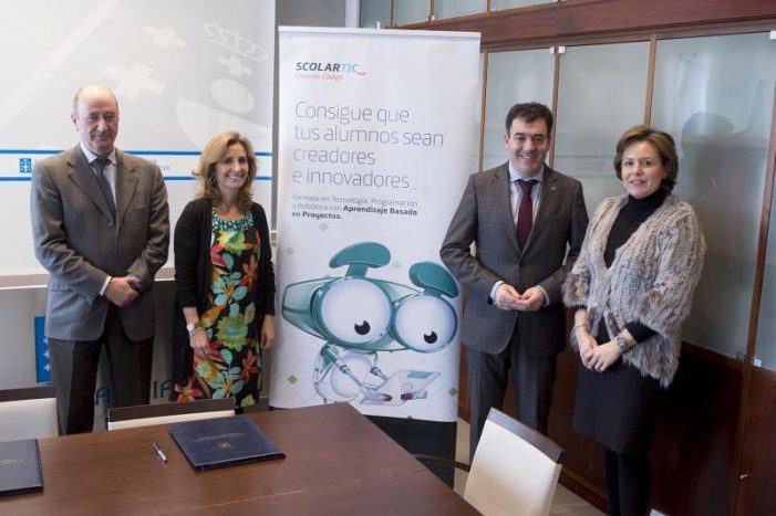 A Consellería de Educación e Telefónica Educación Digital implantarán o programa 'Creando Código' nos centros de ensino de Galicia