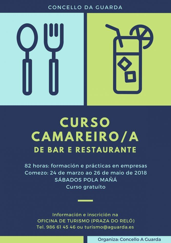 O Concello da Guarda impulsa un novo curso para a formación de camareiros/as en bares e restaurantes