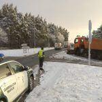 A neve e o xeo seguen a causar algúns problemas puntuais na circulación