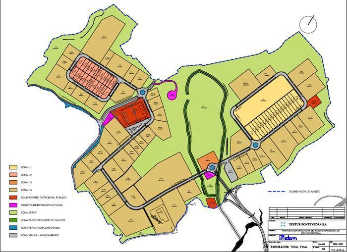 A Xunta publica no DOG a aprobación definitiva da modificación puntual do proxecto sectorial do parque empresarial da Veigadaña, en Mos, para adaptalo á demanda actual
