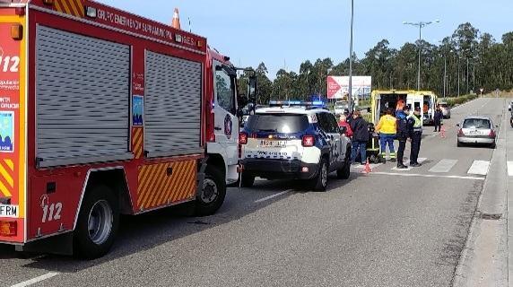 Tres heridos en un atropello en Rúa  das Pontes