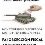 Campaña galega pola Obxección Fiscal aos gastos militares 2018