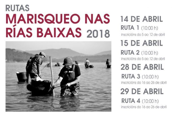 Últimos días de inscrición para vivir a experiencia do Marisqueo nas Rías Baixas coas rutas gratuítas da Deputación