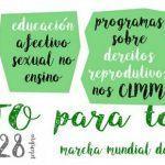"""A Marcha Mundial das Mulleres convoca mobilizacións en demanda de """"Aborto para todas"""""""
