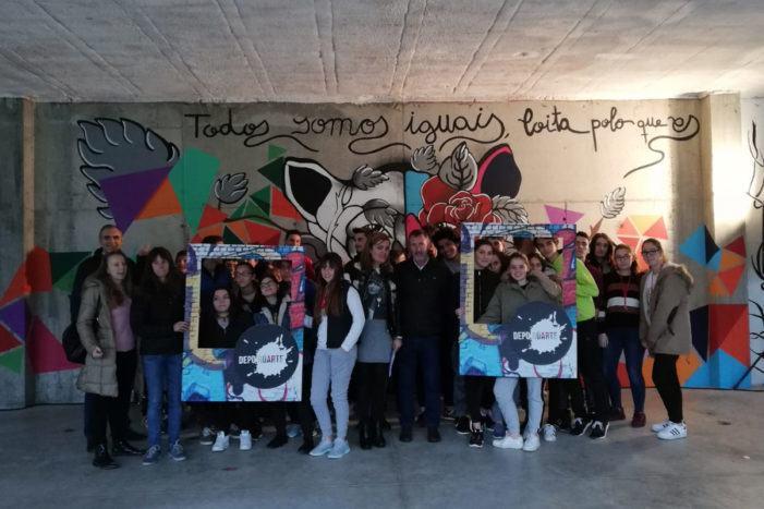 """O alumnado do IES de Barro presenta este xoves o novo mural do programa """"DepoRúARTE"""""""