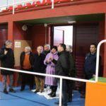 """Carmela Silva visita en Fornelos de Montes as obras do novo ximnasio e pista de pádel, """"equipamentos do século XXI para loitar contra o despoboamento"""""""