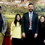 O alcalde de Tui e a concelleira de Educación recibiron esta mañá ás alumnas do IES Indalecio Pérez Tizón que participaron no programa Erasmus+