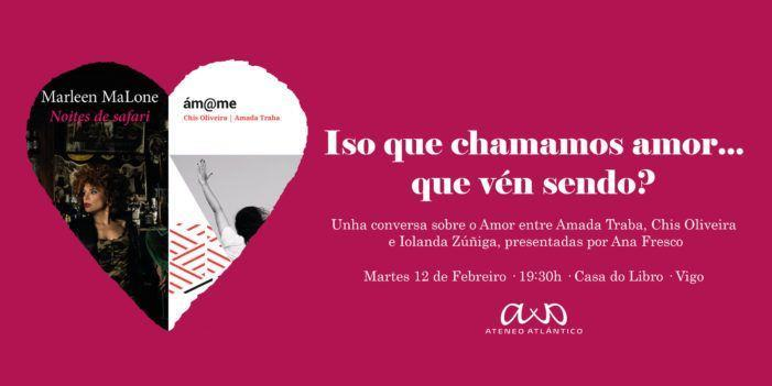 Amada Traba, Chis Oliveira e Iolanda Zúñiga mañá martes na casa do libro