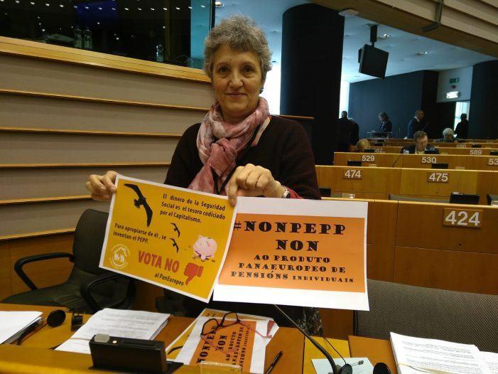 """Lídia Senra vota contra o Produto Paneuropeo de Pensións Individuais: """"É un insulto para a maioría social"""""""