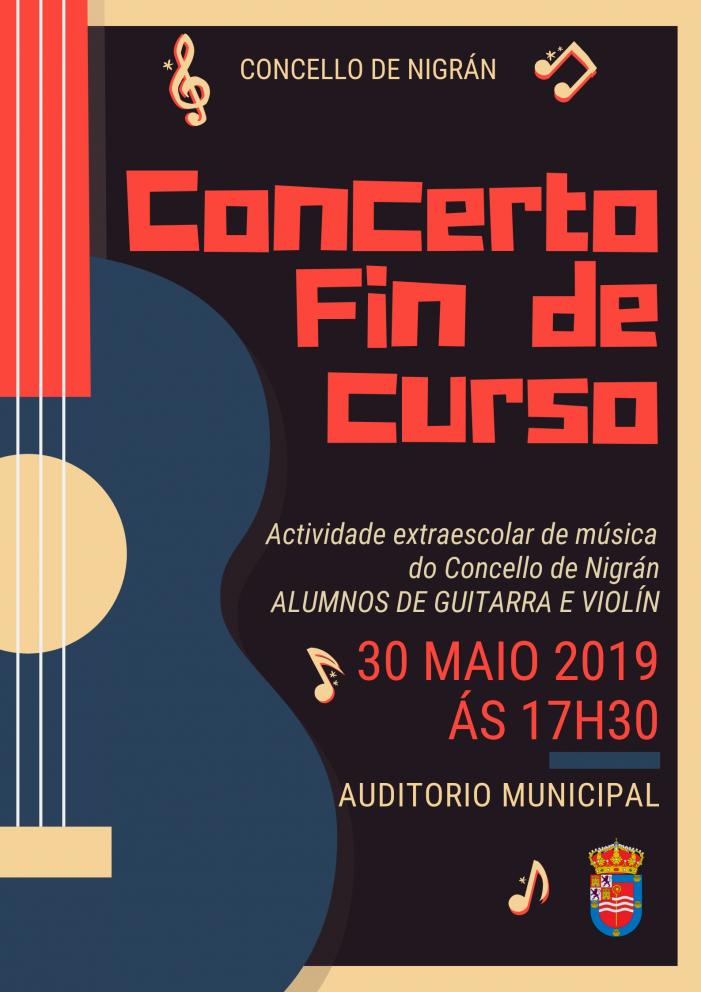 O Concello de Nigrán ofrece mañá o concerto de fin de curso da actividade municipal de música