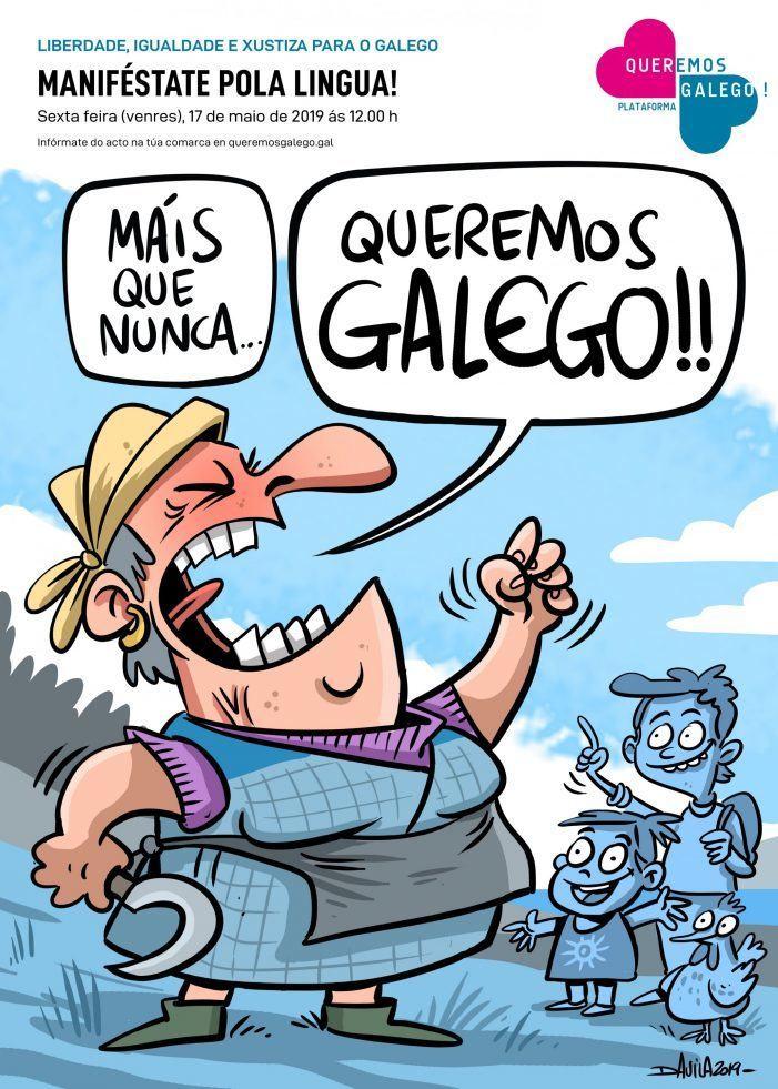 """O 17 de Maio, """"Máis que nunca queremos liberdade, igualdade e xustiza para o galego"""""""