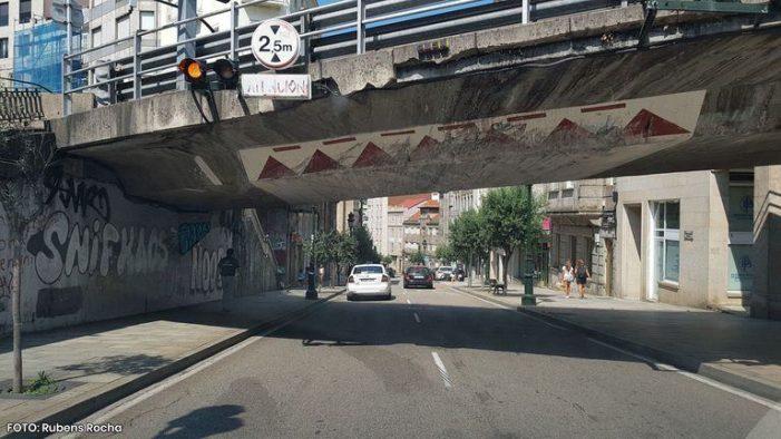 A desmontaxe do paso elevado de Lepanto e as obras do túnel á estación obrigan a cortar o tráfico desde mañá