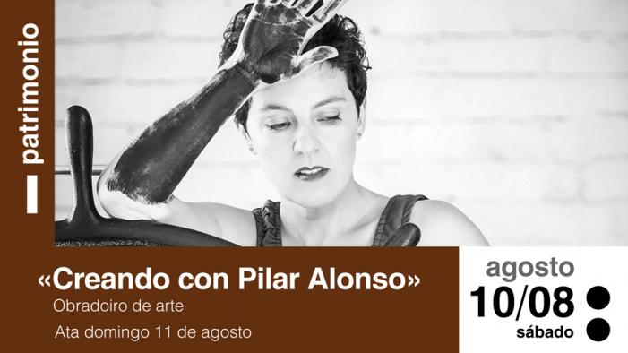 A destacada artista plástica Pilar Alonso imparte esta fin de semana un curso de debuxo botánico en Tomiño