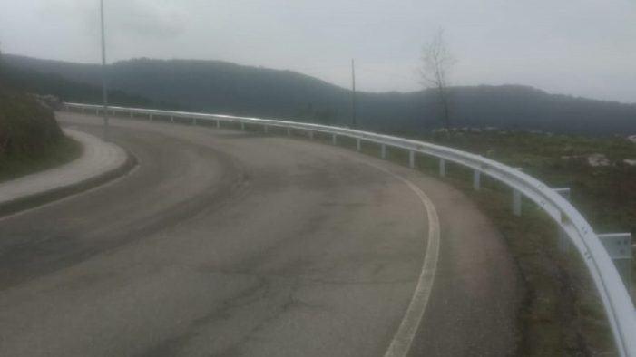 A Deputación de Pontevedra avanza na mellora da seguranza viaria na EP-2204 en Baiona