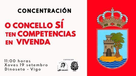 """Convocan no Concello de Vigo unha concentración baixo o eslogan """"O concello SÍ ten competencia en Vivenda e Servizos Sociais!"""""""