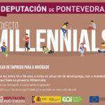 """Segue aberto o prazo de inscrición dos dez cursos do proxecto formativo """"Millennials"""" 2019 para mozos da provincia"""