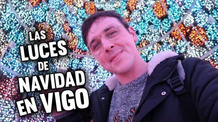 Revive el encendido de las luces de navidad en Vigo con el youtuber Michi Clip
