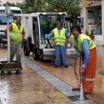 Zafarrancho de limpeza na avenida das Corvaceiras