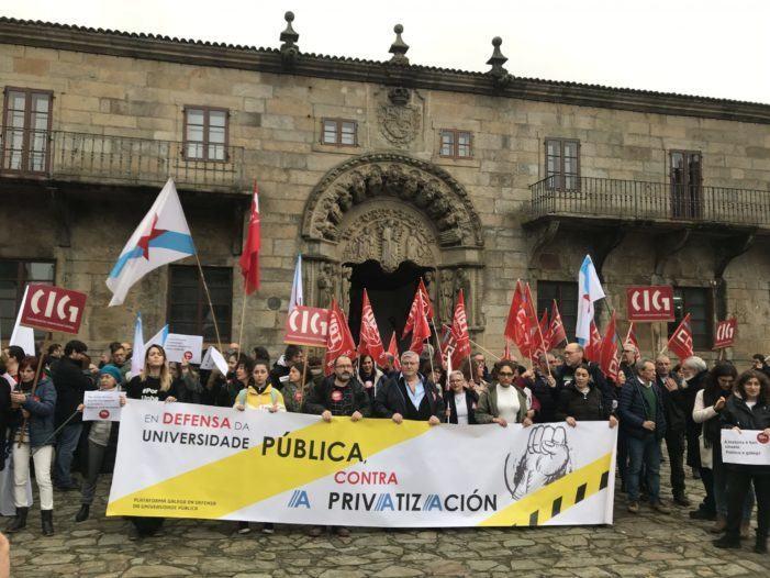 """CIG e UGT denuncian a """"deslealdade"""" de CCOO por rachar a unidade de acción na defensa da Universidade Pública Galega"""