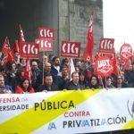 Concentracións simultáneas nos campus galegos para frear a creación da universidade privada
