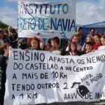 Denuncian la discriminación de los niños que estudian en el colegio de Navia en Vigo por parte de Educación