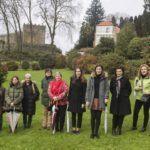A Deputación promociona a Ruta da Camelia cunha visita guiada aos xardíns do castelo de Soutomaior