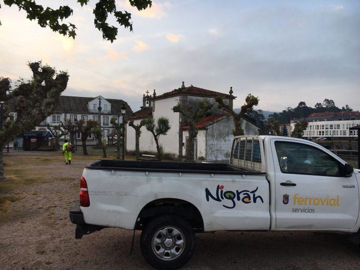 O Concello de Nigrán abre os espazos públicos e acomete a limpeza do paseo do Río Muíños e nespereira ante o desconfinamento dos menores