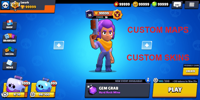 Lwarb Beta, un Servidor Privado de Brawl Stars