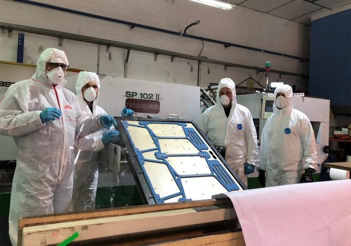 EscudoCovid.19 remata a súa actividade con 56.000 pantallas producidas en Galicia