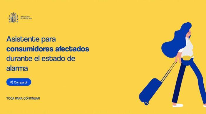 Consumo lanza una web de asistencia a afectados durante el estado de alarma, tras la reanudación de los plazos administrativos