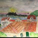 """Positivismo, alegría e cor marcan os debuxos das nenas e nenos da provincia no concurso """"O que ves desde a túa xanela"""""""