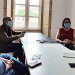 Representantes do Colexio Profesional de Xornalistas de Galicia reúnense con Iria Figueroa, número 2 por Pontevedra de Galicia En Común