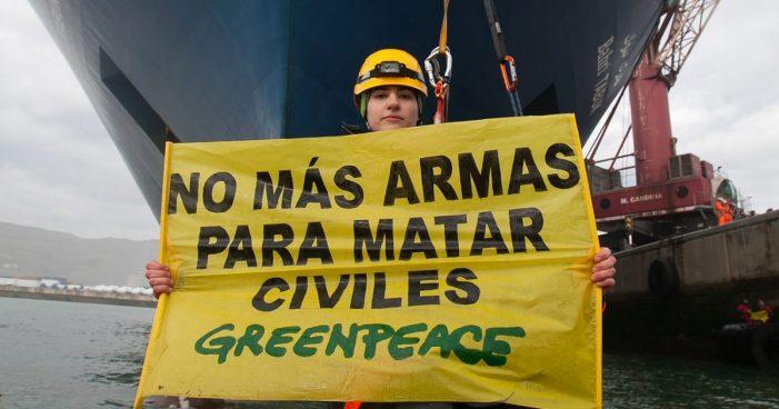 """Greenpeace recurre ante el Consejo de Transparencia la negativa del Gobierno a informar sobre la norma que """"oculta"""" las exportaciones de armas"""
