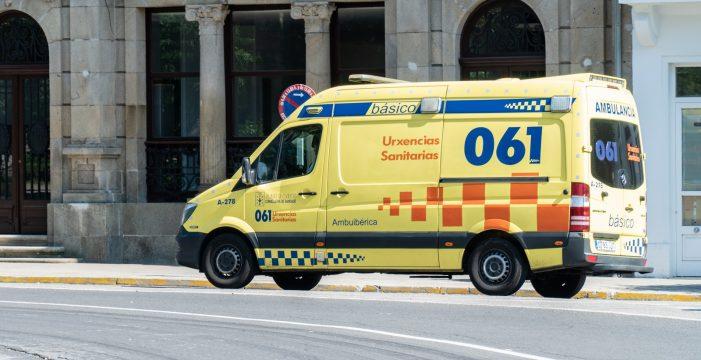 Unha colisión entre un turismo e unha furgoneta provoca dificultades na circulación na AG-56 en Santiago