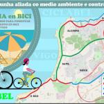 Inician unha campaña para fomentar a mobilidade en bicicleta ás praias de Vigo