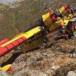 Un tripulante perde a vida e outro resulta ferido tras un accidente cun hidroavión en Lobios