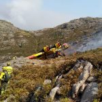 Emotivas palabras de «Diario de un Bombero» tras el trágico accidente de un hidroavión del operativo portugués de extinción en el fuego del ayuntamiento de Lobios que afecta al Parque Natural del Xurés