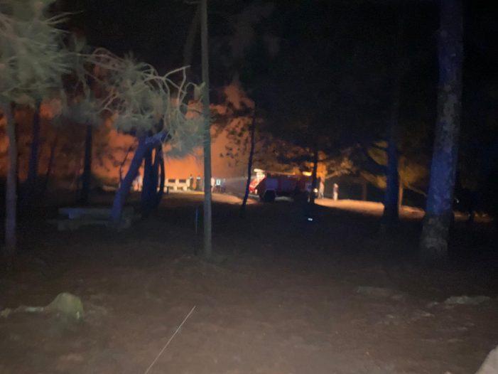 Alerta en Nigrán por un incendio na zona miradoiro e merendero de Monteferro