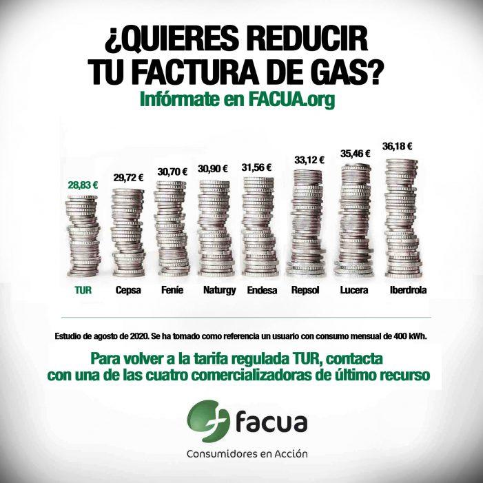 Las tarifas de gas del mercado libre, hasta un 37% más caras que las reguladas por el Gobierno