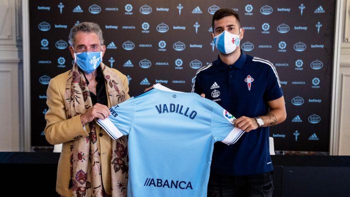 Álvaro Vadillo asina o seu contrato como novo xogador do RC Celta