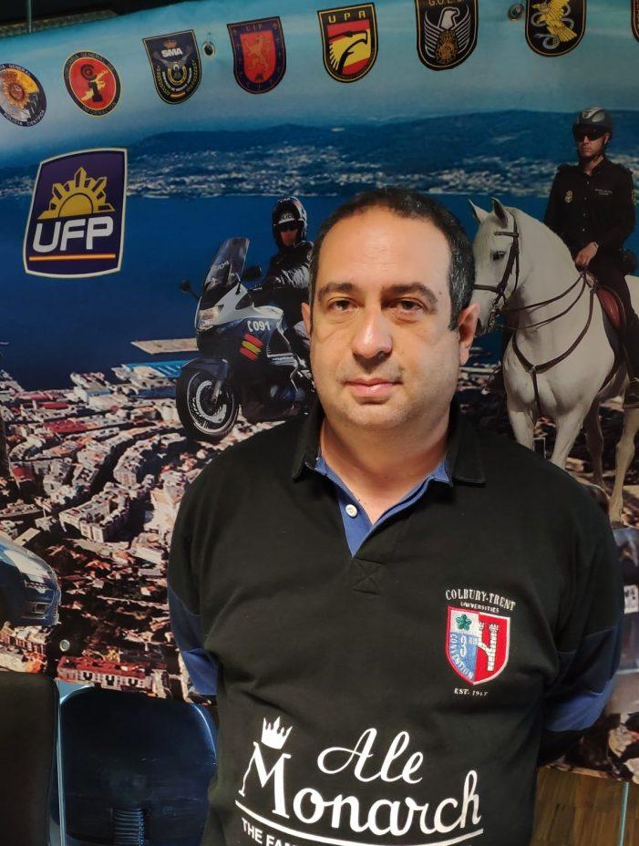 Agustín Vigo Barreiro reelegido como responsable de la Unión Federal de la Policía -UFP- en Vigo