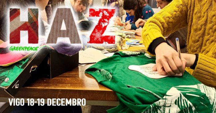 Greenpeace organiza en Vigo unhas xornadas alternativas ao consumismo para reinventar o modelo de cidade